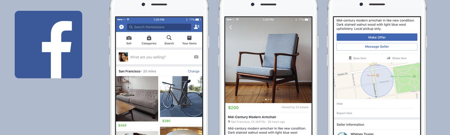 Facebook lanserer sin egen markedsplass